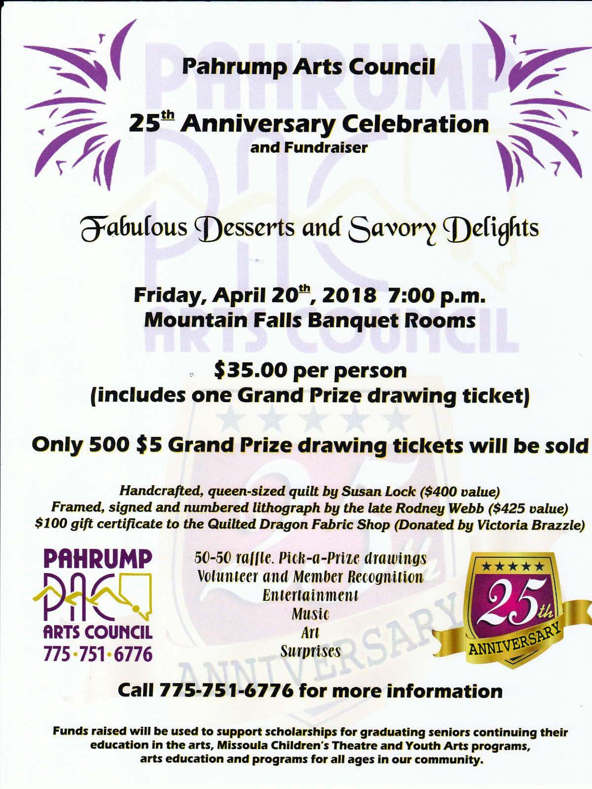 25th flyer placeholder - Pahrump Arts Council